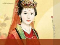 illustration_painting_artwork_of_Chinese_beauty_in_ancient_costume_bi41230