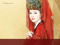 illustration_painting_artwork_of_Chinese_beauty_in_ancient_costume_bi41231